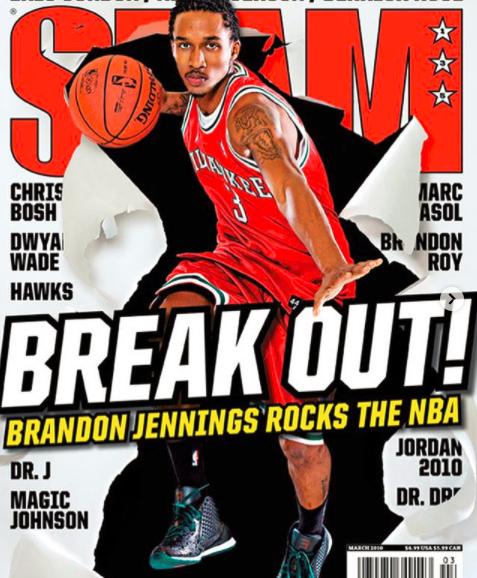 詹宁斯晒登上杂志封面旧照:很棒的篮球时刻