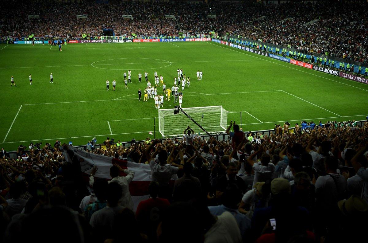 英格兰国家队:谢谢球迷,希望我们曾让你们自豪