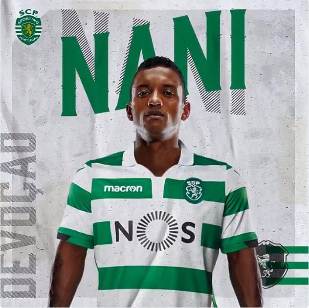 官方:葡萄牙体育宣布签下葡萄牙前锋纳尼