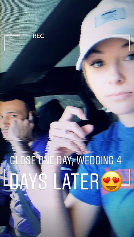 在4天后将行进小南斯未婚妻预报婚礼