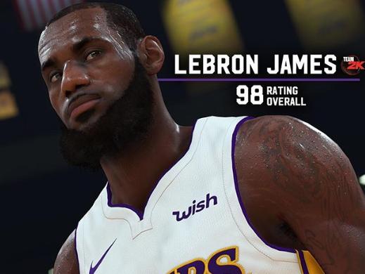 982K公司官方发布詹姆斯2K19的游戏数值