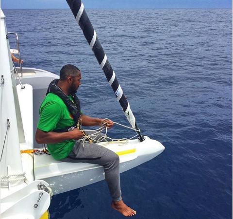 穿直布罗陀进上天中海过迪奥晒帆海照