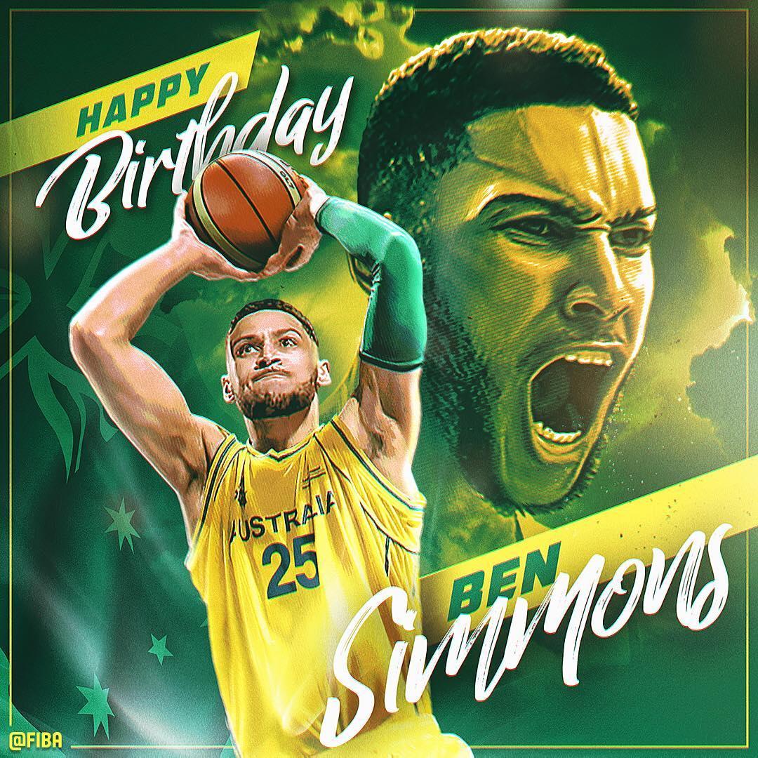 FIBA官方晒图祝本-西蒙斯22岁生日快乐