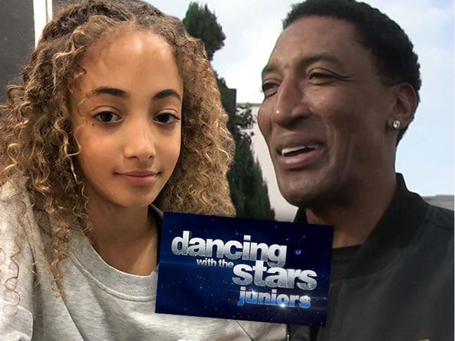 加入《与星共舞》节目将皮蓬女儿Sophia