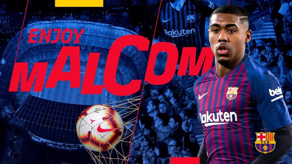 官方:巴塞罗那宣布正式签下波尔多前锋马尔科姆