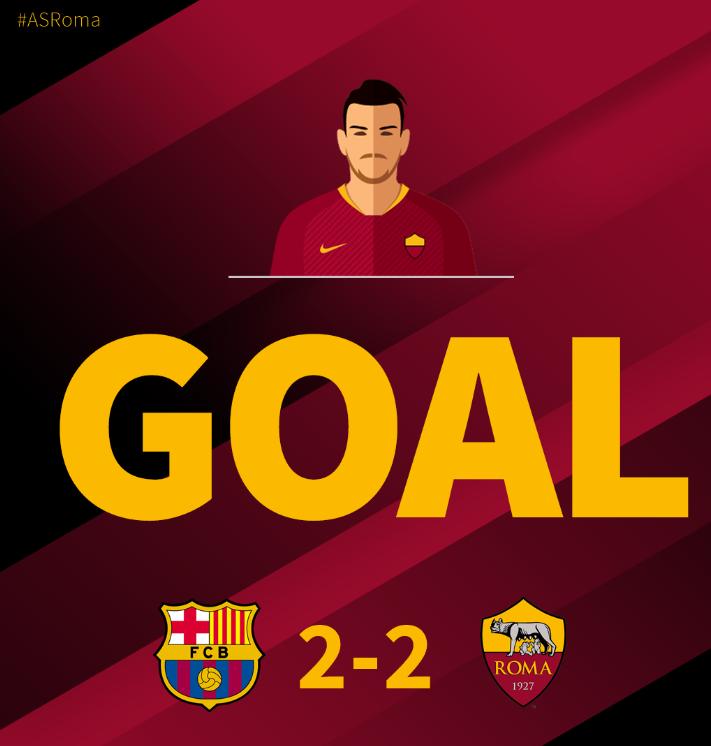 GIF:弗洛伦齐帮助罗马再度扳平比分