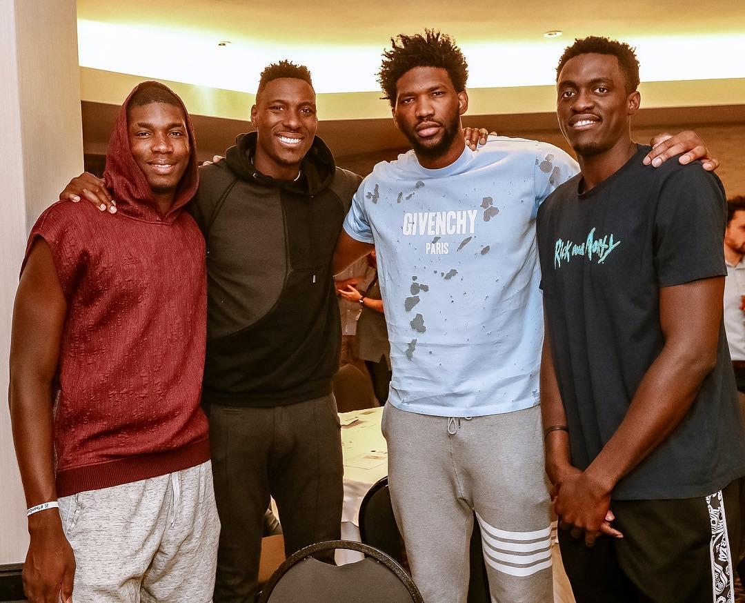 非洲之队!西亚卡姆与恩比德等人一起参加NBA非洲赛