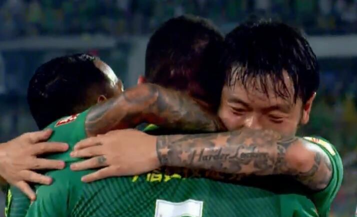 GIF:傲骨突破回传,张稀哲破门,国安1-0苏宁