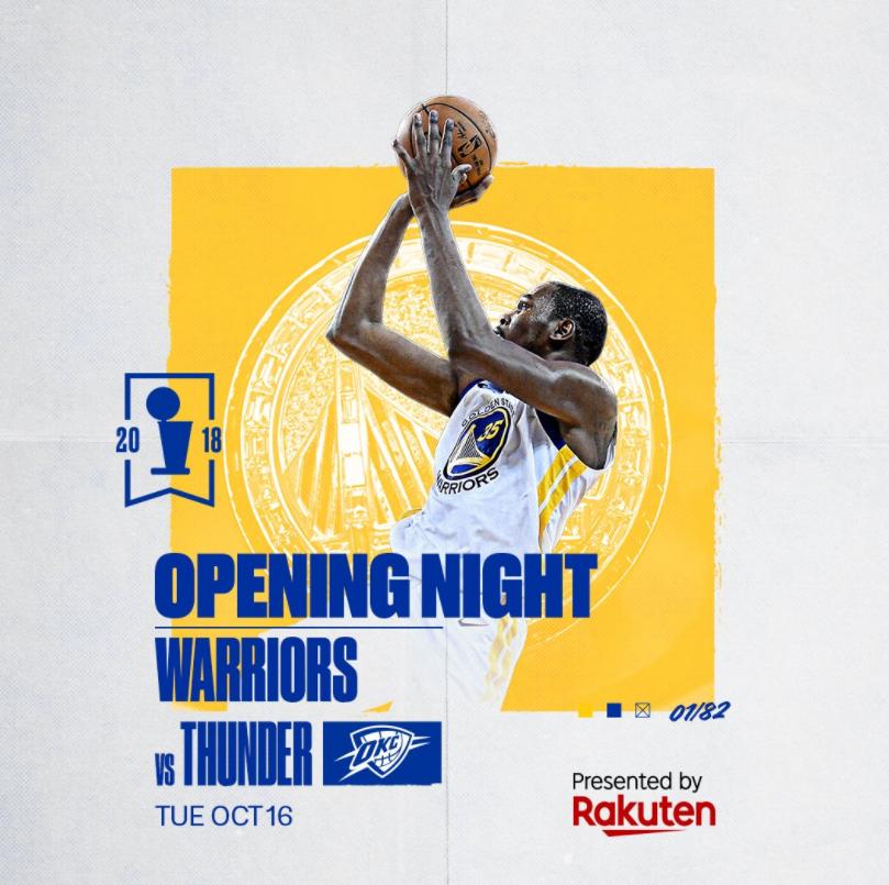 勇士官方发布新赛季已揭晓比赛的宣传海报