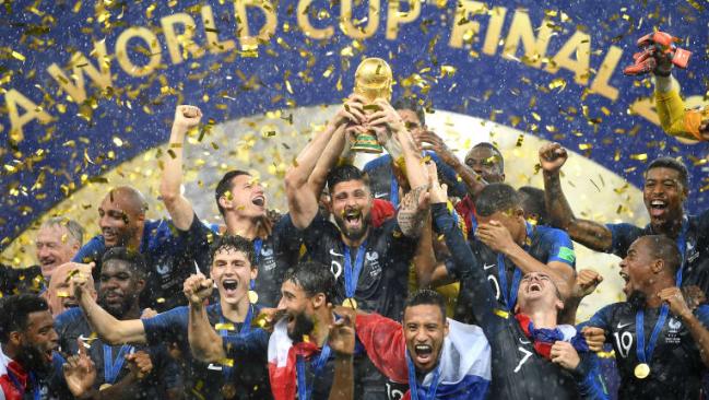 国际足联发布新一期国家队排名,法国榜首阿根廷德国出前十