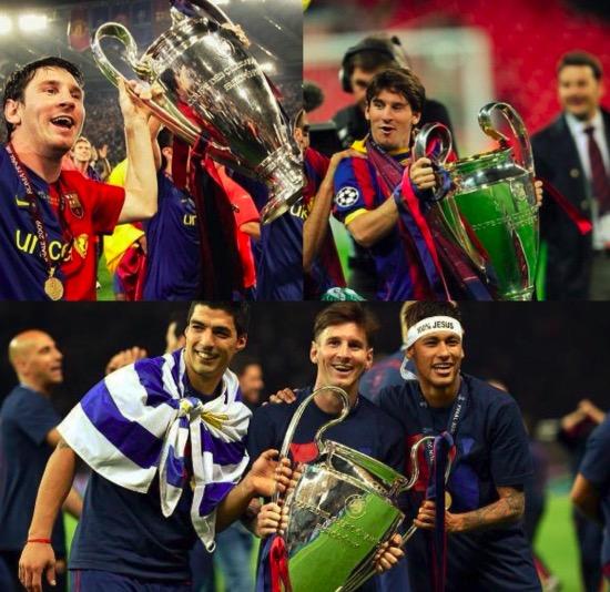梅西曾3次打进巴萨新赛季联赛首球,最终巴萨都夺得联赛和欧冠