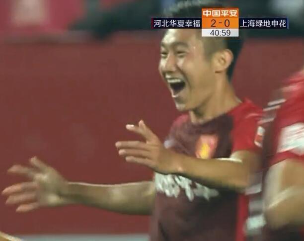 GIF:再丢一球!高华泽破门,华夏幸福3-0申花