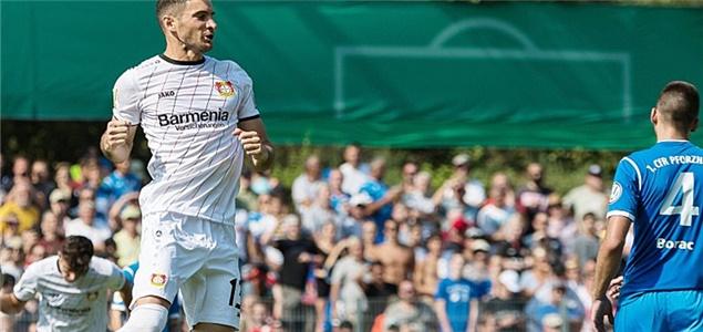 德国杯:阿拉里奥点射制胜,勒沃库森1-0普弗茨海姆