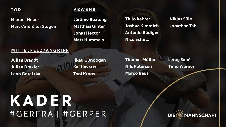 德国最新大名单:萨内回归,赫迪拉无缘