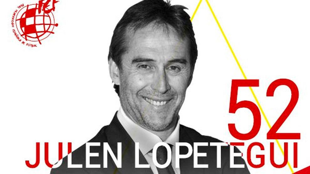 欢愉抉择谅解?西足协发推祝洛佩特吉52岁诞辰