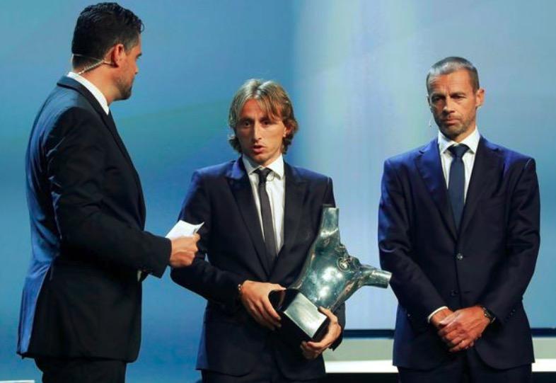 欧足联最佳球员评选得分公布,莫德里奇领先C罗90分