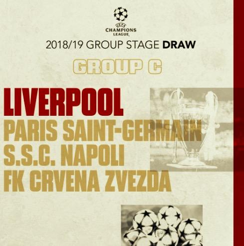 C组赛程:利物浦 9月中起迎 3周超魔鬼赛程, 收官战对
