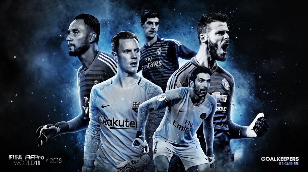FIFA发布年度最佳阵型门将候选:布冯、纳瓦斯领衔