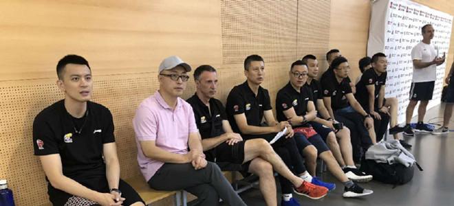 辽宁队教练组受邀观摩皇马篮球队训练课