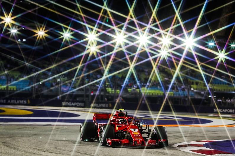 Kimi领跑新加坡夜间练习赛,维特尔又双撞墙
