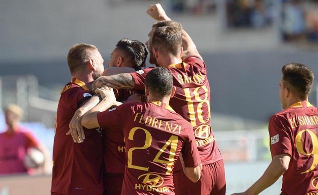 佩莱格里尼传射科拉罗夫任意球破门,罗马3-1拉齐奥