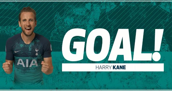 GIF:凯恩头球破门,热刺暂时领先哈德斯菲尔德