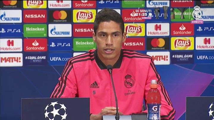 瓦拉内:联赛是我们的日常任务,而欧冠相比下完全不同