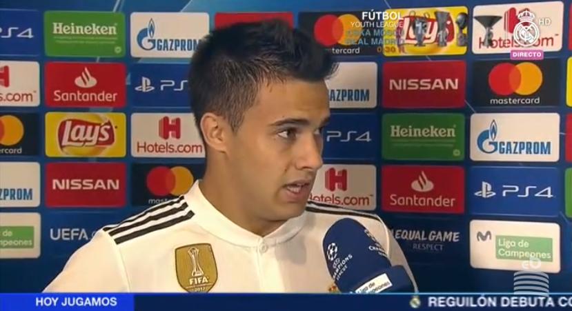 雷吉隆:处子秀比赛结果有点苦涩, 皇马踢得很好