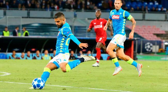 欧冠:默滕斯中框因西涅绝杀,那不勒斯1-0小胜利物浦
