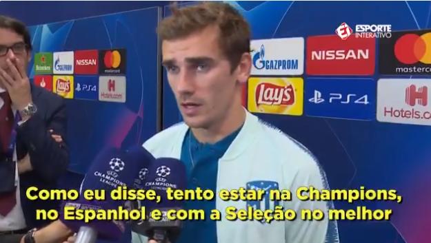 格列兹曼:上个赛季我一度心不在焉,满脑子不想怎么踢球