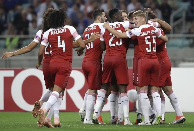 欧联:古恩多齐史密斯-罗齐破门,阿森纳客场3-0卡拉巴赫