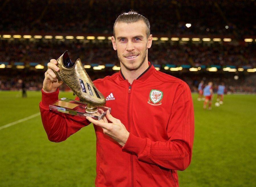 贝尔获颁威尔士队历史最佳射手奖,但可能无缘出战爱尔兰