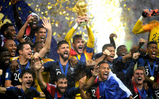 报告:世界杯上法国跑动距离排名第六, 率仅为 49%