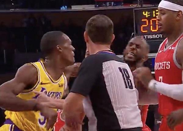NBA正在评估隆多将口水喷到保罗脸上的视频