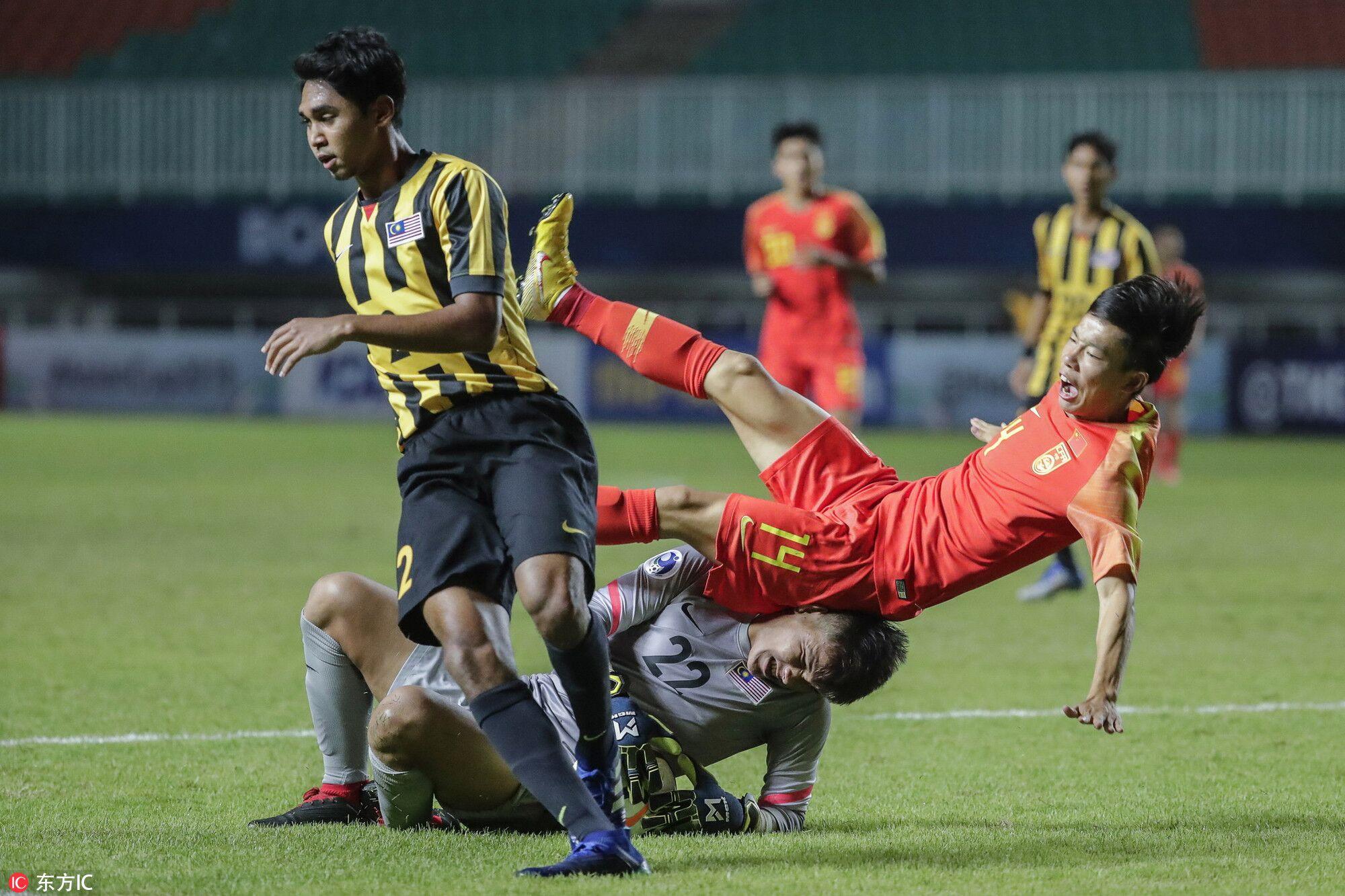 U19亚青赛:陶强龙徐越破门,中国2-0马来西亚