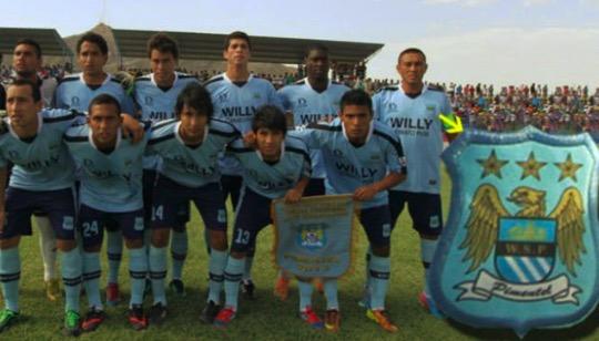 秘鲁球队用曼城老版队徽,净胜球-92降级