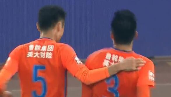 GIF:攻破老东家!刘军帅怒射破门,鲁能1-1苏宁