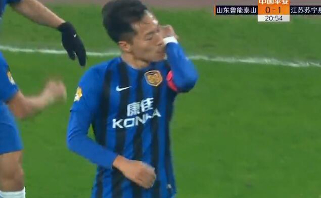 GIF:回头望月!吴曦头球破门,鲁能0-1苏宁