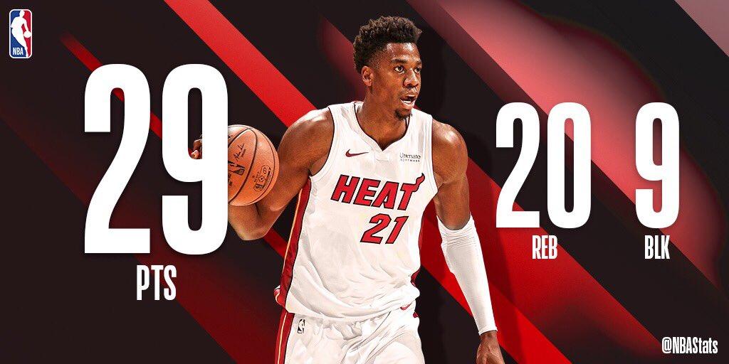 NBA官方评选今日最佳数据:怀特塞德29分20篮板9盖帽当选