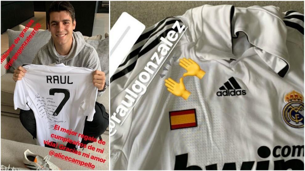 德罗西被禁赛 2场莫拉塔喜获生日礼物:劳尔签名的球衣与战靴