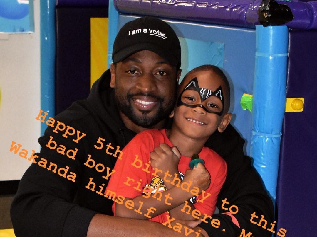 韦德祝小儿子5岁生日快乐:瓦坎达先生