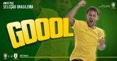 GIF:内马尔点射,巴西1-0领先乌拉圭