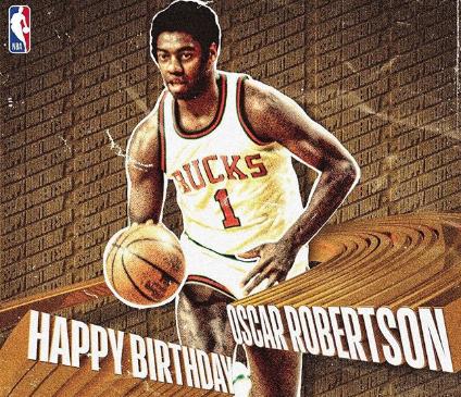 NBA官方祝名宿奥斯卡-罗伯特森80岁生日快乐