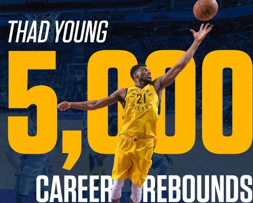 赛迪斯-杨做事生涯总篮板数超过5000个