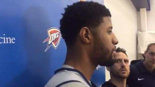 乔治谈MVP候选:对此并不关注,只想赢球
