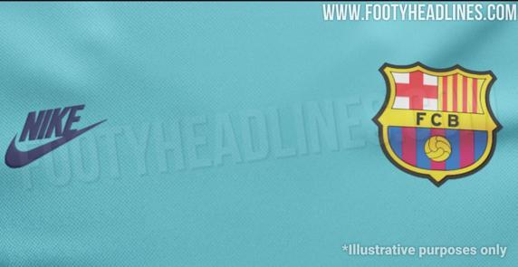 巴萨新泄露:湖蓝主色, 基于 96/  97赛季设计
