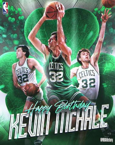 NBA官方祝名宿凯文-麦克海尔61岁生日喜悦