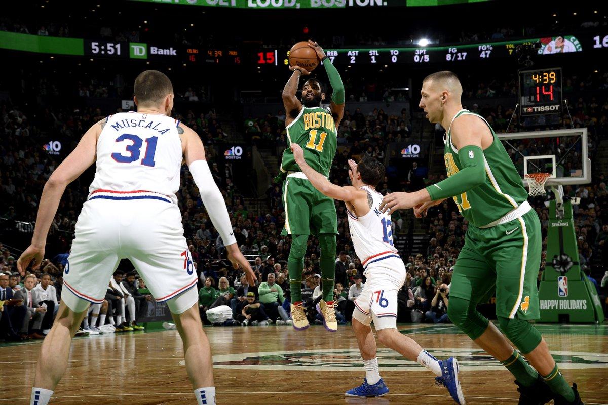 欧文做事生涯通例赛始次单场得到起码40分10篮板