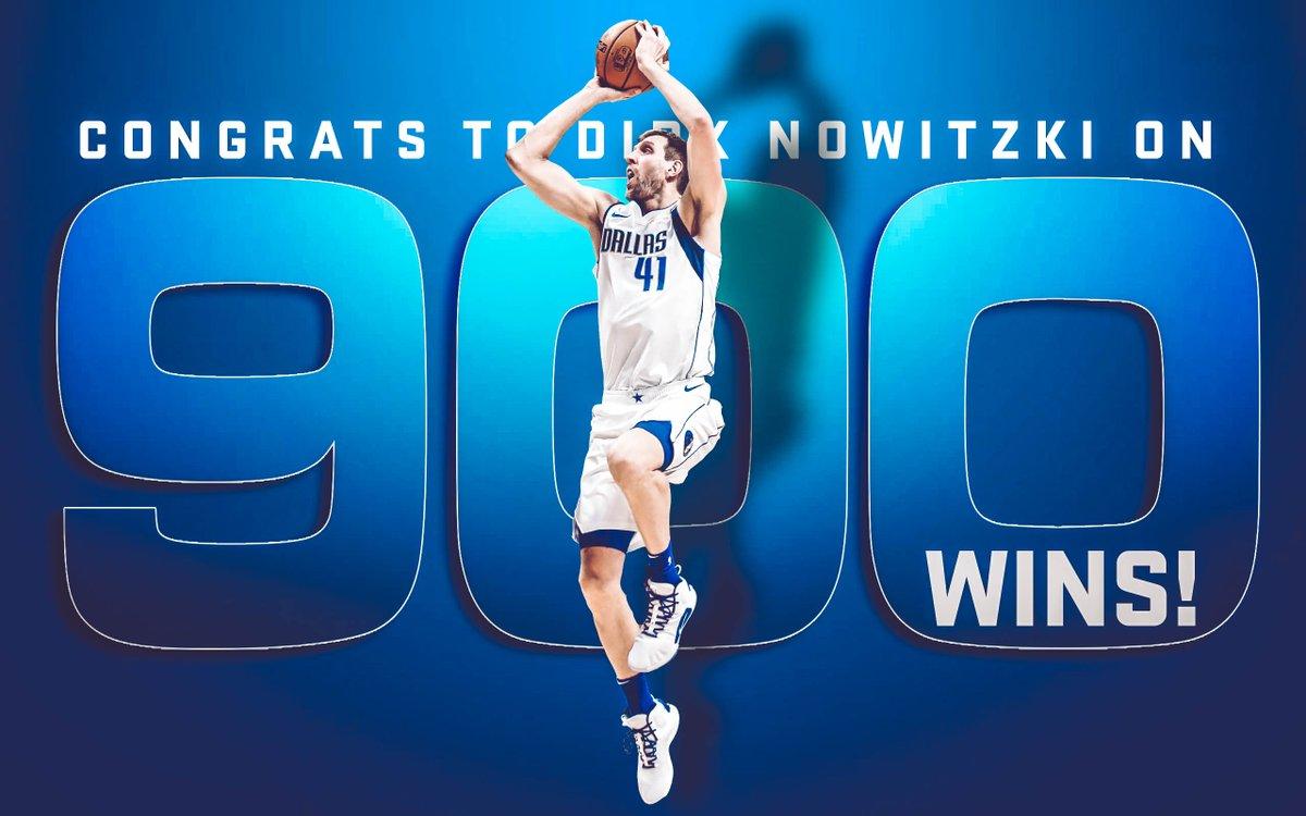 诺维茨基收获做事生涯第900场通例赛胜利,排名历史第六