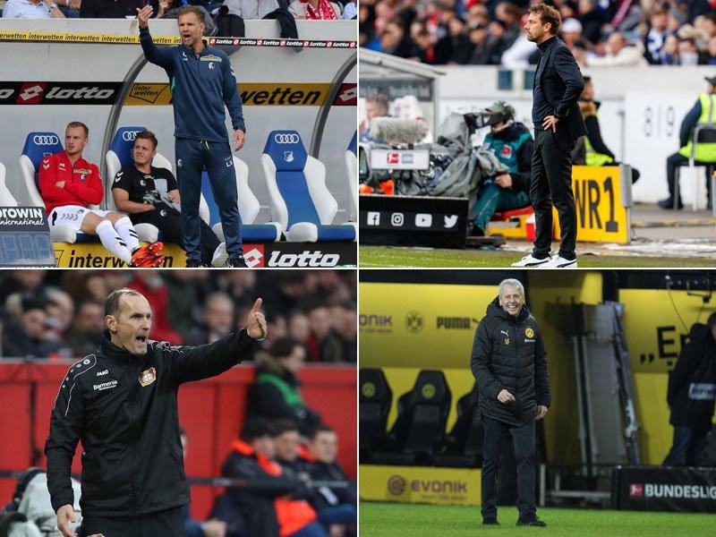 德甲半程教练场均得分:仅法夫尔科瓦奇场均超 2分